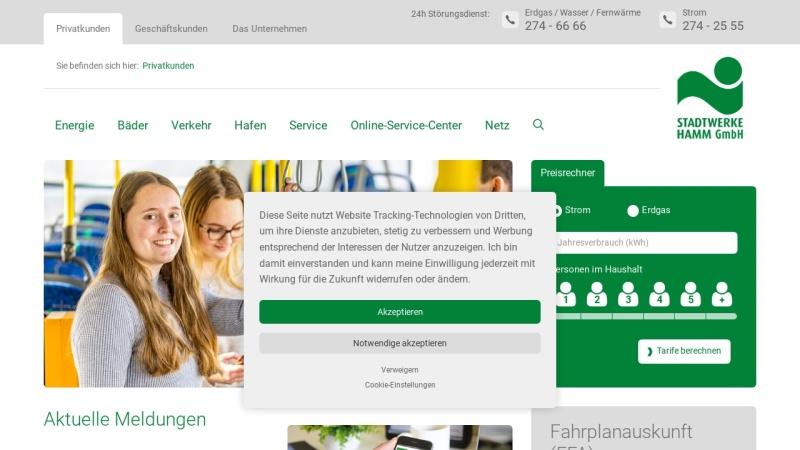 www.stadtwerke-hamm.de Vorschau, Stadtwerke Hamm GmbH