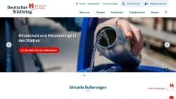 www.staedtetag.de Vorschau, Deutscher Städtetag