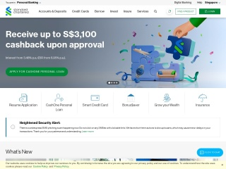 Screenshot for standardchartered.com.sg