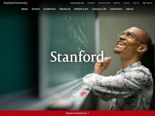 Screenshot for stanford.edu