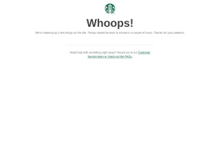 Screenshot for starbucks.com