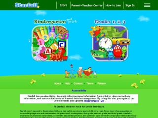 Screenshot for starfall.com
