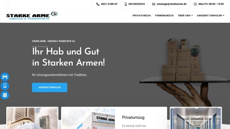 www.starkearme.de Vorschau, Starke Arme - Umzüge & Transporte e.K.
