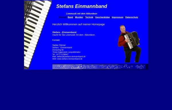 Vorschau von www.stefans-einmannband.de, Stefan's Einmannband
