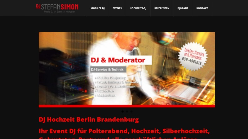 www.stefansimon.de Vorschau, DJ Berlin: Stefan Simon - Mobiler Allround-Event-DJ