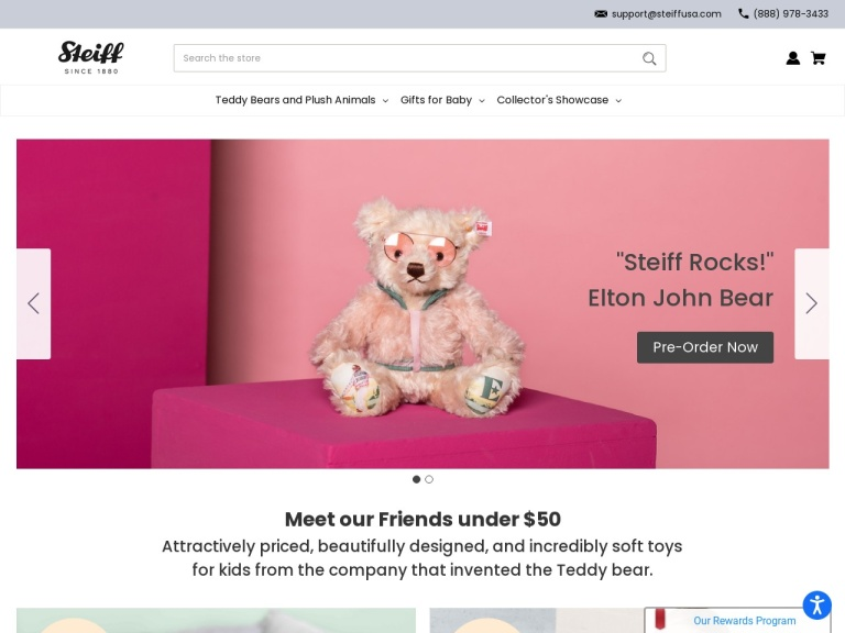 Steiff North America, Inc.-$5 off your first purchase PLUS free shipping  on orders over $50! Coupon code: SAVE5WELCOME