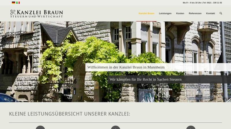 www.steuerberatung-braun.de Vorschau, Heinrich Braun - Steuerberater