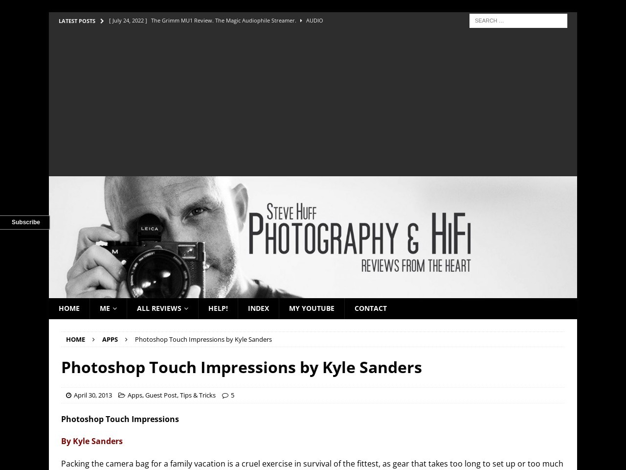 Photoshop Touch Impressions by Kyle Sanders … – Steve Huff Photo