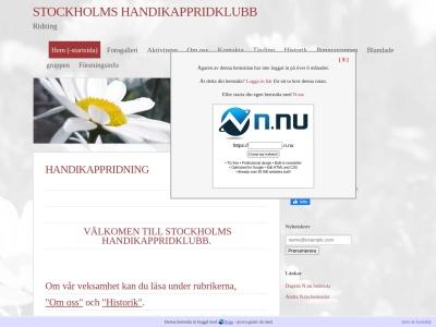 www.stockholmshandikappridklubb.n.nu