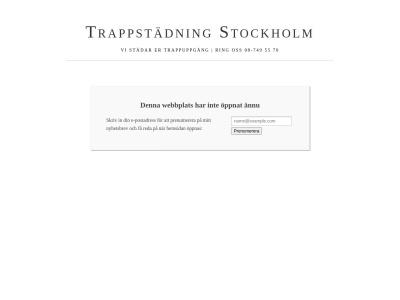 www.stockholmstrappstadning.n.nu