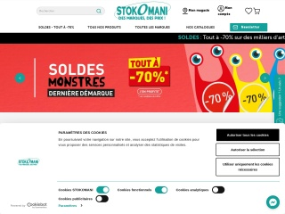 Capture d'écran pour stokomani.fr