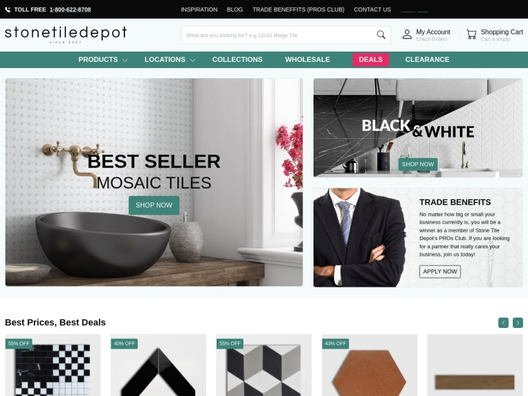 StoneTileDepot-LAST DISCOUNT OF THE MONTH FOR MARBLES, MOSAICS, PORCELAIN AND MANY MORE