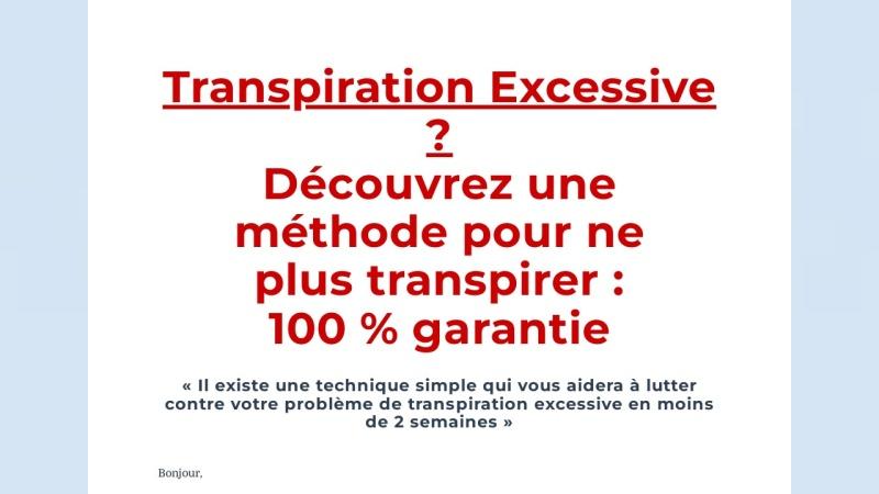 stop a la transpiration
