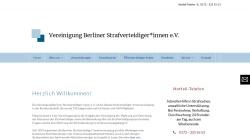 www.strafverteidiger-berlin.de Vorschau, Vereinigung Berliner Strafverteidiger e. V.
