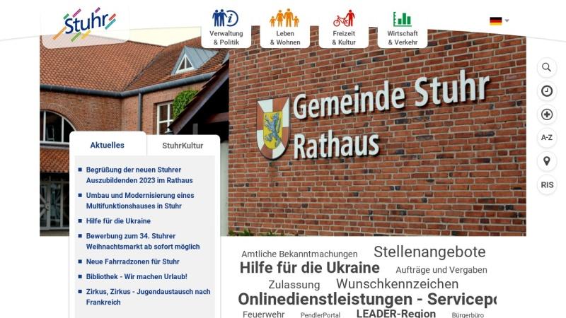 www.stuhr.de Vorschau, Gemeinde Stuhr