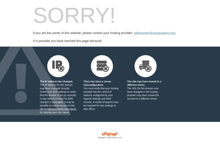 Stumpsparty.com screenshot