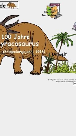 Vorschau der mobilen Webseite www.styracosaurus.de, Styracosaurus