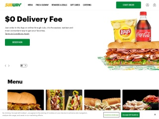 Capture d'écran pour subway.com