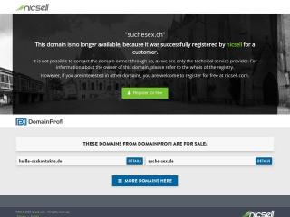 Screenshot der Website suchesex.ch