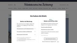 www.sueddeutsche.de Vorschau, Süddeutsche Zeitung