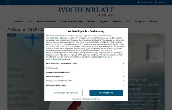 Vorschau von www.suewe.de, Wochenblatt