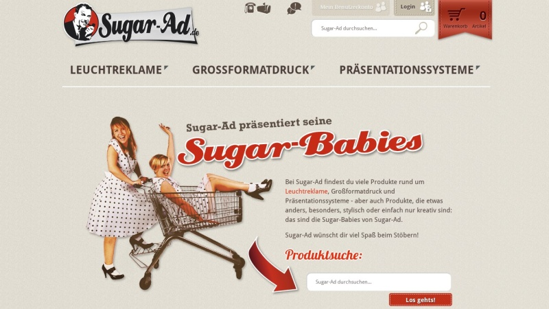 www.sugar-ad.de Vorschau, Sugar-Ad Werbetechnik