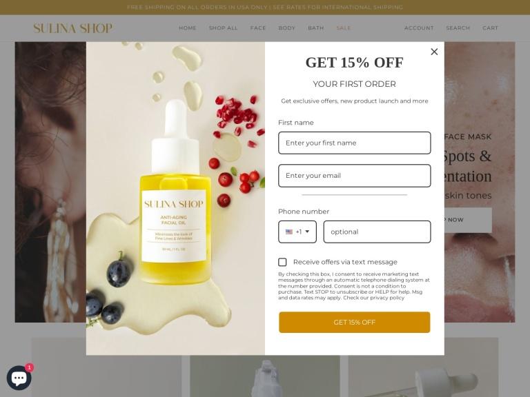 Sulina Shop screenshot