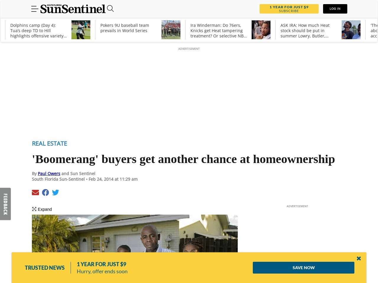 'Boomerang' buyers getting another chance at homeownership