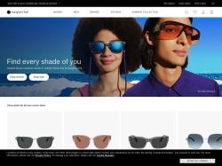 Sunglass Hut Affiliate Program screenshot
