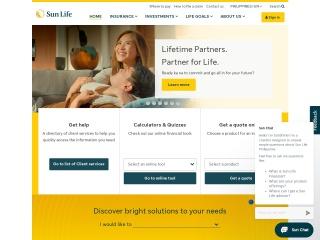 Screenshot para sa sunlife.com.ph