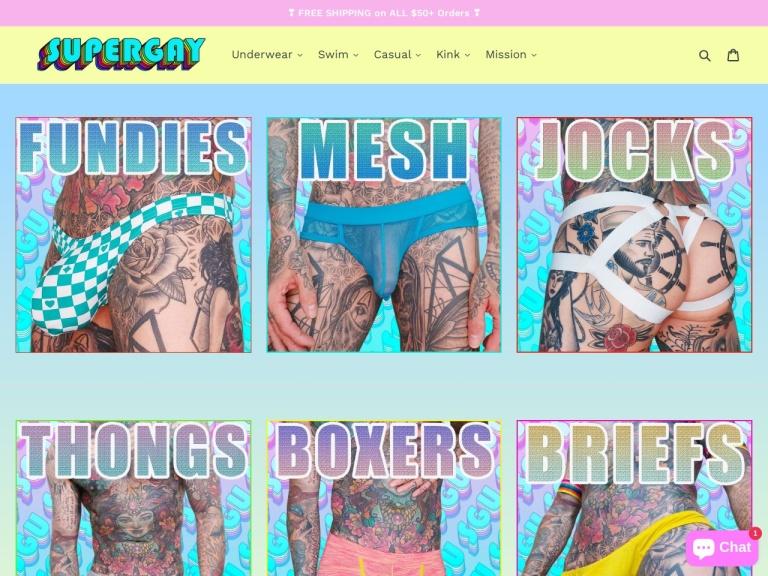 Super Gay Underwear screenshot