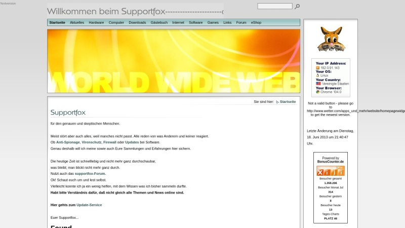 www.supportfox.de Vorschau, Supportfox