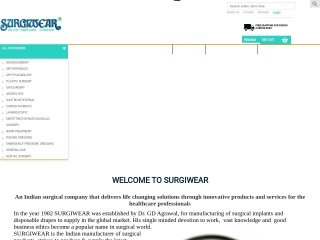 Screenshot for surgiwear.co.in