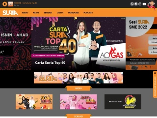 Screenshot bagi suriafm.com.my