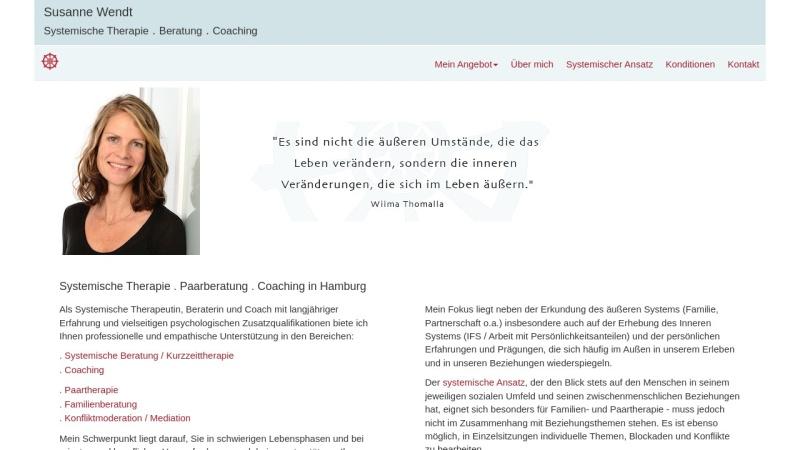 www.susanne-wendt.de Vorschau, Susanne Wendt: Systemische Therapie, Beratung, Coaching