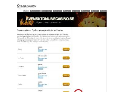 www.svensktonlinecasino.se