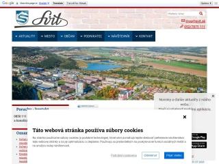Screenshot stránky svit.sk