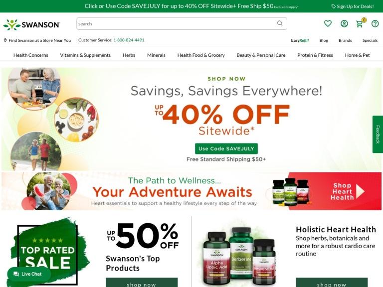 Swanson Health screenshot