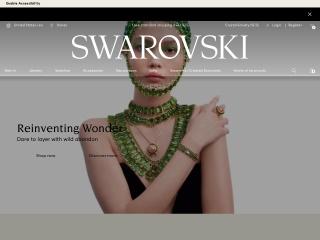 Capture d'écran pour swarovski.com