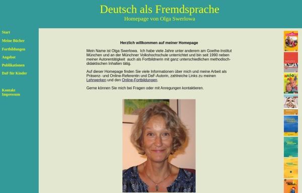 Vorschau von www.swerlowa.de, Deutsch als Fremdsprache: Homepage von Olga Swerlowa