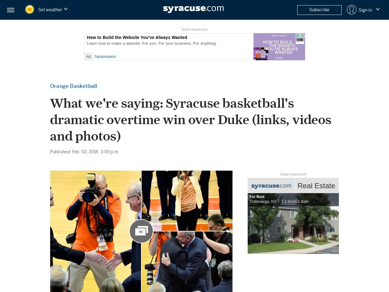 What we're saying: Syracuse basketball's dramatic overtime win over Duke …