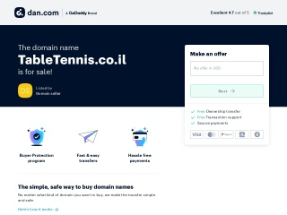 Screenshot for tabletennis.co.il