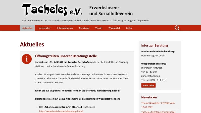 www.tacheles-sozialhilfe.de Vorschau, Tacheles e.V.