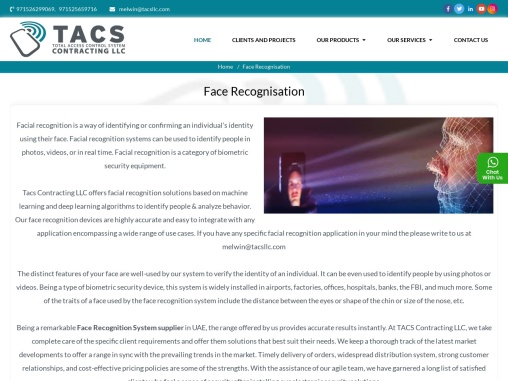 Face Recognition System Suppliers