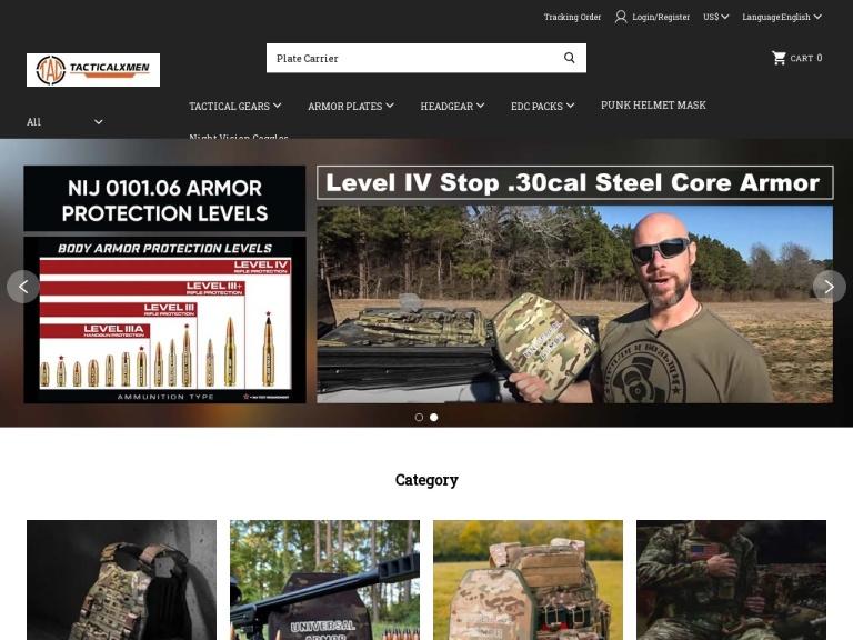 Tacticalxmen.com screenshot