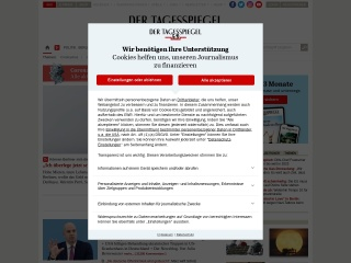 Screenshot der Website tagesspiegel.de