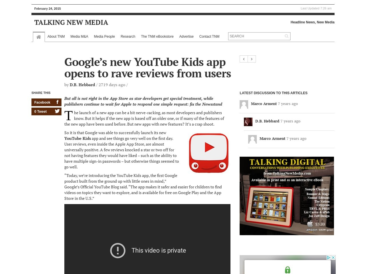 Google's new YouTube Kids app opens to rave reviews from users
