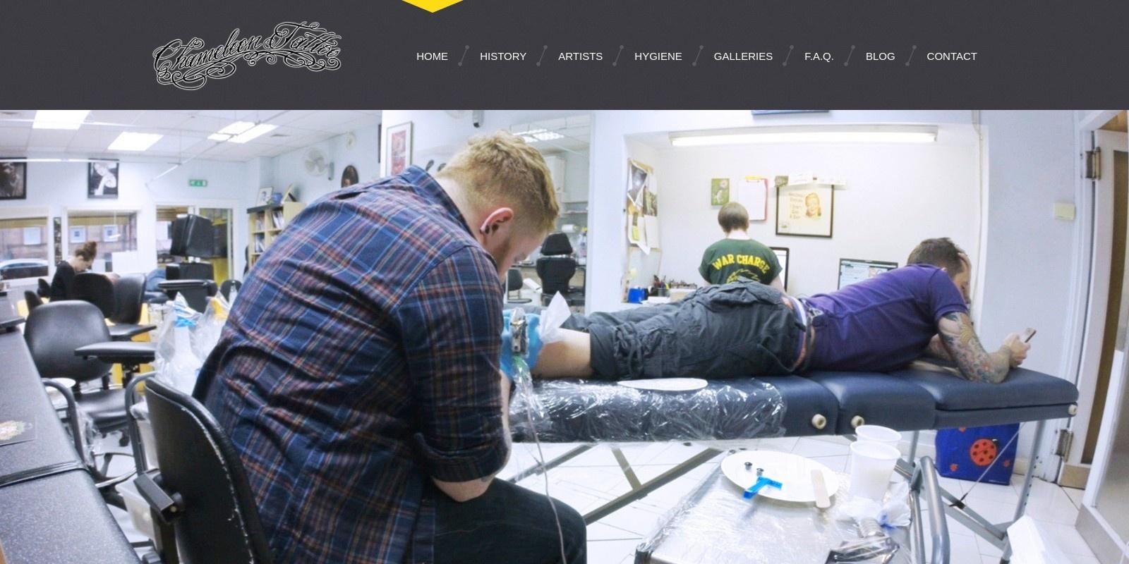 Preview of http://www.tattoochameleon.co.uk