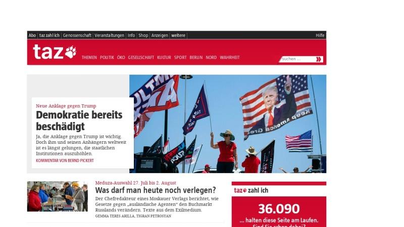 www.taz.de Vorschau, taz, die tageszeitung