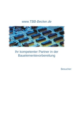 Vorschau der mobilen Webseite www.tbb-becker.de, TBB-Becker, Inh. Joachim Becker